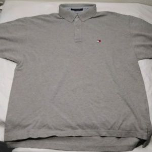 90s Tommy Hillfiger Polo mens Xl Grey Embroidered